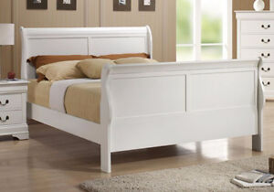 LOUIS PHILIP DOUBLE AND QUEEN SIZE BED