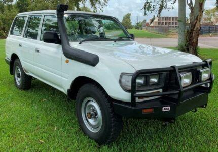1997 Toyota Landcruiser HZJ80R Standard White 5 Speed Manual Wagon Berrimah Darwin City Preview