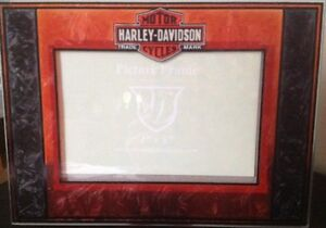 Art Glass Picture Frame for the Harley Davidson Enthusiast