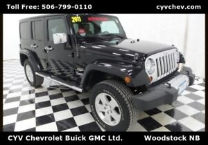 2011 Jeep Wrangler Unlimited Sahara 4 Door - Leather, Hard Top &