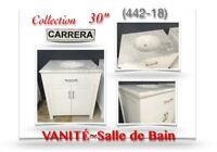 "(442-18)  VANITÉ 30""/Salle de Bain /Collection  ""CARRERA"" 379.00"