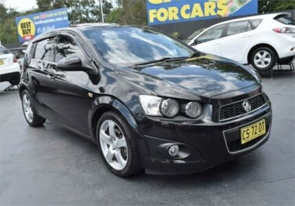 2012 Holden Barina TM MY13 CDX Black 6 Speed Automatic Hatchback Campbelltown Campbelltown Area Preview