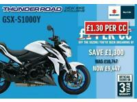 BRAND NEW GSXS1000 WITH 1300 OFF