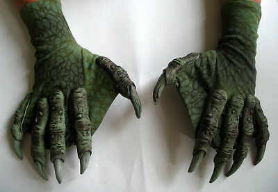 Sea Creature Monster Lizard Claws Hands Scary Adult Halloween Costume Gloves - Sea Monster Costume