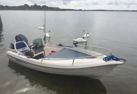 Texas 360 (Like Terhi) Unsinkable motor boat / fishing boat - with 8hp Yamaha High Thrust Outboard
