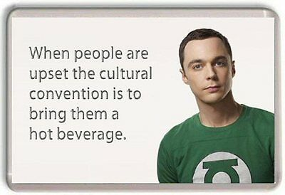 "Sheldon Cooper ""Hot Beverage"" Big Bang Theory  Fridge Magnet"