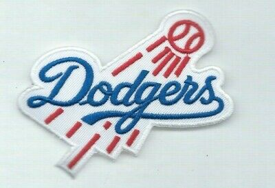 NEW 3 X 3 1/2 INCH LOS ANGELES DODGERS IRON ON PATCH FREE SH