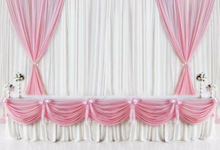 Table Skirt & Backdrop Drapes for Wedding or Function - Pink