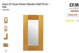 Wooden chunky mirror new boxed