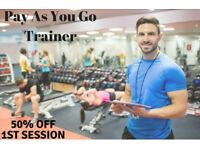 (((50% off))) 1st Session Pay As You Go Personal Trainer