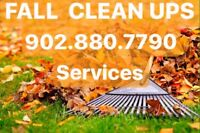 FALL CLEAN UPS SERVICES 902•880•7790