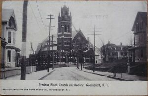 1910-Postcard-Precious-Blood-Church-Woonsocket-RI