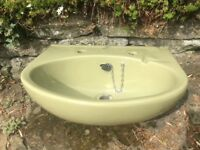 Sink avocado (recessed)