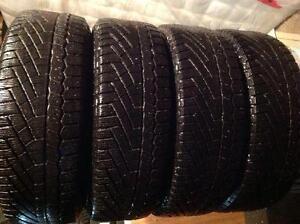 4 pneus d'hiver 195/65 r15 continental winter pro contact ,,,110