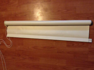 """34.5"""" wide x 66"""" long, off white roller shade"""