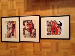 Boys Room Cars Decor Prints Fire Truck Race Cars Red Vintage