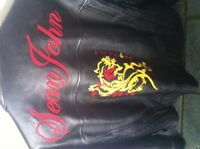 Sean John leather motorcycle jacket