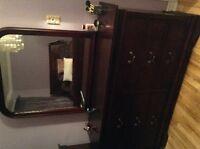 Bedroom Set with Cherry Finish