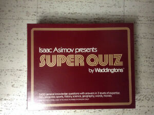 Isaac Asimov presents Super Quiz game--with 5400 questions!