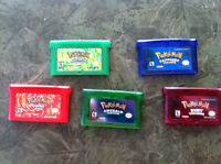 Pokeman Games for Gameboy Advance and Nintendo