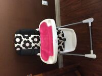Baby high chair and matching playpen