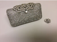 Diamond Tee Stud Clutch Purse and ring IN STOCK ORDER YOUR'S NOW!