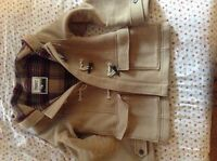 TNA Aritzia Ladies Wool Winter Coat - Tan - Excellent Condition