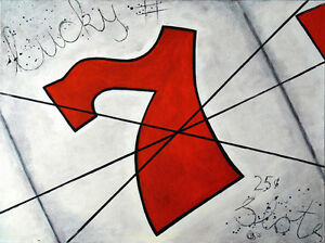 Lucky #7 (24x30 inch) West Island Greater Montréal image 1
