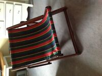 Canvas sling back chair
