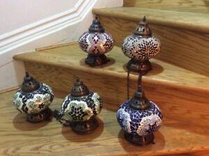 STUNNING TURKISH / MOROCCAN / TIFFANY STYLE  Lanterns / lams