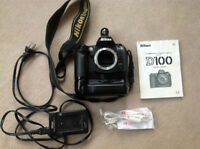 Nikon D-100 with MB-D100 Battery Pack