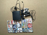 250GB PS3 with 15 games, 2 PS3 controllers & PS move