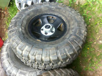 ONLY RIM - black steel rims for Jeep TJ