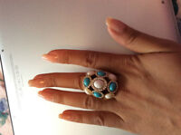 Bague or deux tons turco&blanc/Two tone color ring gold