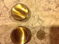 Pair of gorgeous vintage brass drawer knobs #30