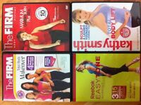 4 Popular Fitness/Exercise DVD's With Exercise Band $10 OBO