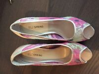 Floral shoes from Spring - never used