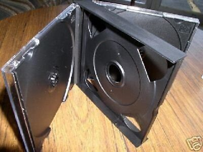1 New 24mm Chubby 2 Double Cd Jewel Cases Wblack Tray Sf19 Free Usps Shipping