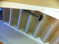 Professional carpet installation specialize stairs