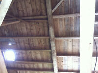 Hand hewn beams and other barn boards. Barn to be tore down soon
