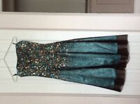 Green and brown prom dress or cocktail dress from Scala