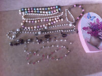 Collection of Necklaces and Bracelets