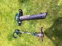 YARD WORKS LEAF BLOWER/VACUUM WITH A WEED EATER