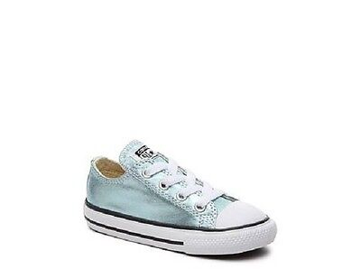 Converse Metallic Glacier Blue Shoes Sneakers Infant Toddler Girl Size 9 NEW