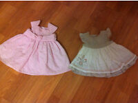 Jasper Conran and Mamas & papas dresses in brand new condition 0-3 months £10 for both