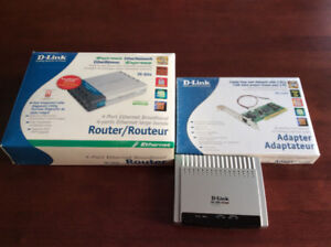 2 NEW Routers + an adapter still in boxes. Sold Individually