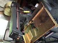 Radial table saw