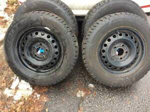 4 GOODYEAR NORDIC WINTER TIRES - 195/65R15 USED ONE WINTER ONLY