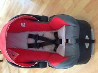 Evenflo Car Seat and base. Stroller also available