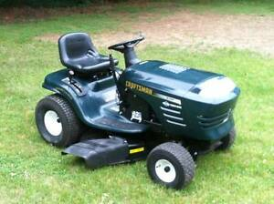 USED 13.5 hp CRAFTSMAN RIDE ON MOWER,LEAF CATCHER AND SWEEPER